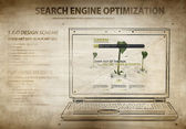 Search engine optimization scheme — Stock Photo