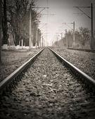 Ferrovia abandonada — Foto Stock