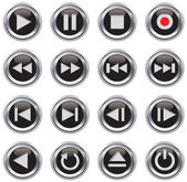 Multimedia control icon/button set — Stock Vector