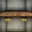 Stock Photo: Chandelier in grunge interior | Background