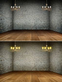Chandelier in grunge interior | Background — Stock Photo