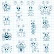 Cartoon insects - Imagen vectorial