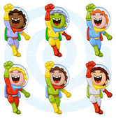 Cartoon astronauts — Stock Vector