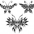 Flaming butterflies - Stock Vector