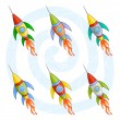 Cartoon rockets — Stock Vector