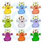 Cartoon monsters — Stock Vector #9668712