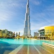 DUBAI, UAE - JANUARY 4: Burj Khalifa, world's tallest tower, Downtown - Stock Photo