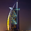 DUBAI - JANUARY 4: Burj al Arab hotel, one of the few 7 stars hotel in the  — Stock Photo