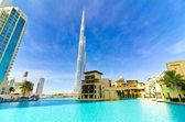 Dubaï, émirats arabes unis - 4 janvier : burj khalifa, plus haute tour du monde, centre ville — Photo