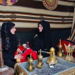 Arab Women sitting in a traditional tent — Stock Photo #9546353