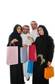 Arab couples shopping — Stock Photo