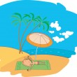 Rest on a beach - Stock Vector