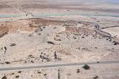 Desert landscape near Dead sea — Stock Photo