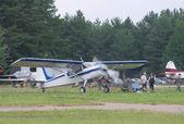 Yak-12 démarre son moteur — Photo