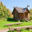 Old-looking wooden hut — Stock Photo