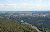Birdseye view of Vilnius — Stock Photo