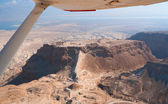 Flight over Masada — Fotografia Stock