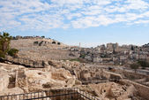 Ancient ruins in Jerusalem — Stock Photo