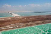 Salt works on the Dead sea — Stock Photo