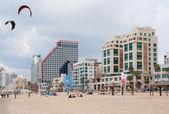 Praia de tel aviv — Fotografia Stock