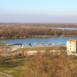 The river Sava and Dunay.Belgrad.Serbiya — Stock Photo