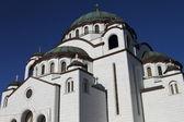 Cathedral of St. Savvy.Belgrad.Serbiya — Stock Photo