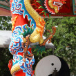 The dragon red background Pattaya Thailand — Stock Photo