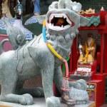 The dragon red background Pattaya Thailand — Stock Photo
