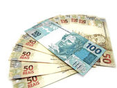 Money from Brazil - New currency design — Stock Photo