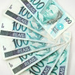 Stock Photo: 100 real banknote from brazil