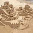 Stock fotografie: Sand castle in brazilibeach