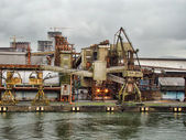 View from a dock of the city of santos maritime port — Stock Photo