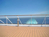Cruise Ship Deck with sea view — Stock Photo