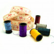 Stock Photo: Set of thread and metric tape