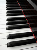 Piano keyboard background — Stock fotografie