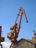 żurawie na port — Zdjęcie stockowe