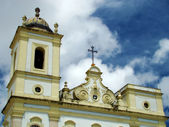Detail of a colonial church in salvador, bahia, brazil — Stock Photo