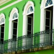 Pelourinho house on the historical center of salvador, bahia, brazil - Stock Photo