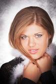 Portret model w studio — Zdjęcie stockowe