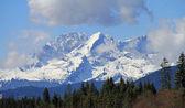 Postcards motive Bavarian mountains (Karwendel) — Stock Photo