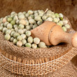 Stock Photo: Peas seeds