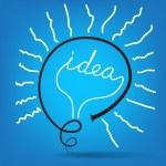 Light bulb idea vector — Stock Vector #10359355