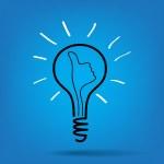 Light bulb idea vector — Stock Vector