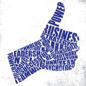 Gestures of the words — Stock Vector