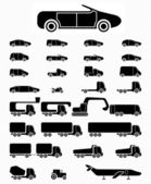 Icon set Vehicles — Stock Vector