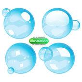 şeffaf bir bubbles kümesi — Stok Vektör