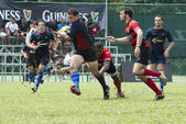 Rugby Players in Action — Stock Photo