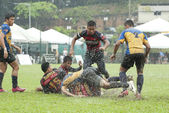 KUALA LUMPUR - NOV, 27: Unidentified players in action during Rugby Jonah Jones 7's 2011, organized by Royal Selangor Club (RSC) on Sunday, November 27, 2011 in Kuala Lumpur, Malaysia. — Stock Photo