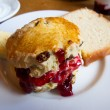 Stock Photo: Scone with jelly jame