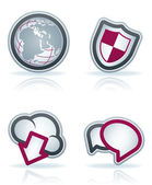 Internet Icons — Stock Photo